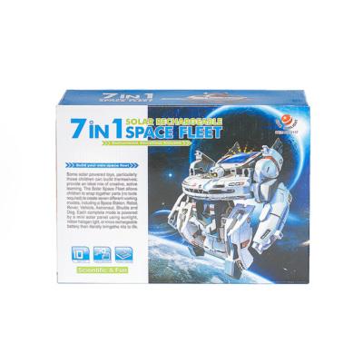 Электронный конструктор 7 в 1 – робот на солнечной батарее
