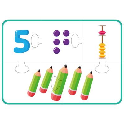 Игра-пазл для изучения чисел на абакусе (1-9)