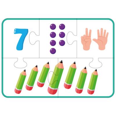Игра-пазл для изучения чисел первого десятка (1-9)